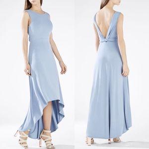 High-Low Twist Open-Back Dress